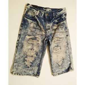 Size 14 (Girls) Chams distressed Bermuda shorts
